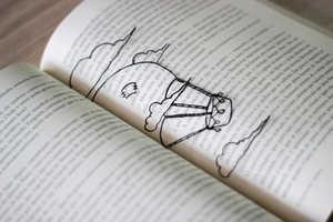 The DIY Transparent Book Marker Includes Adorable Designs