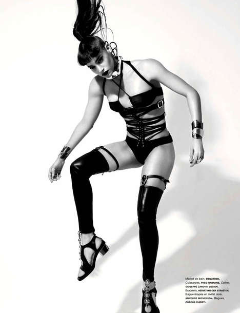 Haute Dominatrix Editorials - Model Sofia Boutella Looks Fierce in Numero