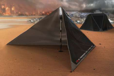 Solar Disaster Shelters - The V Plus Emergency Relief Tent Provides Victims with Comfort and Power