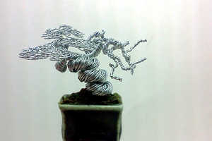 The Ken To Wire Bonsai Trees Are Miniature Handmade Sculptures