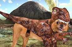 Prehistoric Puppy Outfits - The Raptor Dog Costume Lets Your Pet Dress up as a Dinosaur
