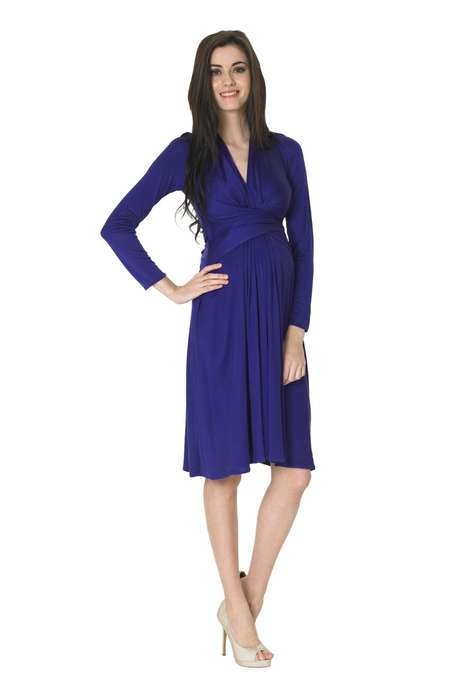 Issa Classic Silk Wrap Maternity Dress