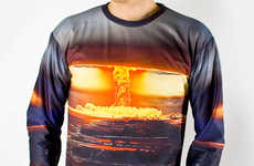 Explosively Printed Ensembles - The Kaboom Sweater Has a Fiery Hot Design