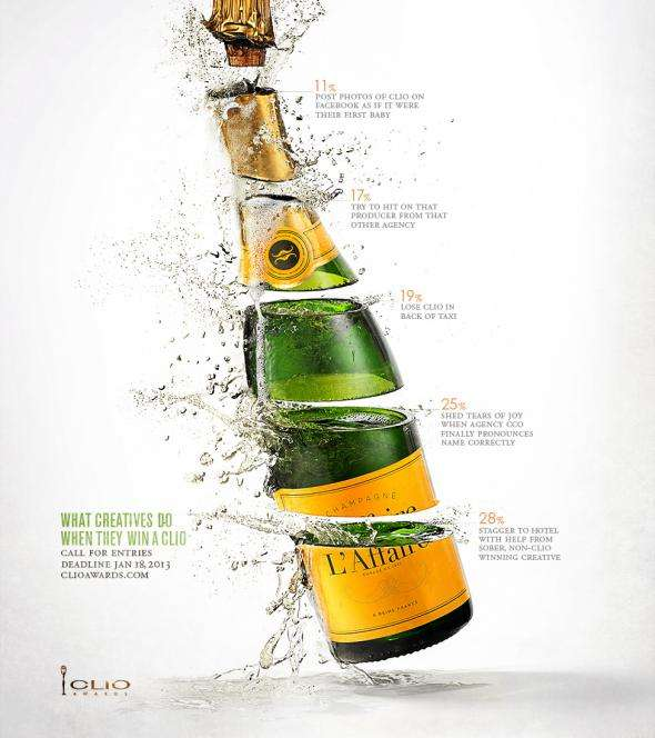 Champagne-Popping Award Campaigns