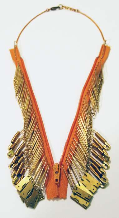 Tribal Paperclip Accessories - The Hur Jewelry Zipper Necklace Channels a Native American Aesthetic