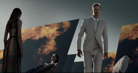 Fiery Futuristic Campaigns - The Calvin Klein Spring Campaign Video is Impressive