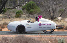 Wind-Powered Electric Cars - This Electric Powered Car by Evonik Can Be Pulled Along by a Kite