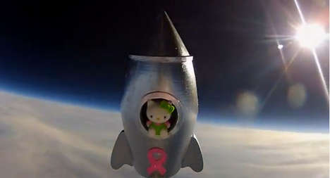 Cat Space Launches - A Grade Seven Class Impressively Puts the First Hello Kitty in Space