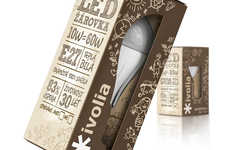 Delightfully Doodled Branding - Ivolia Lightbulb Packaging Endeavors to Endear Consumers