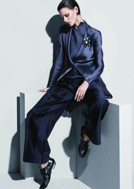 Ironic Menswear Advertisements - The Giorgio Armani Spring/Summer 2013 Campaign is Androgynous