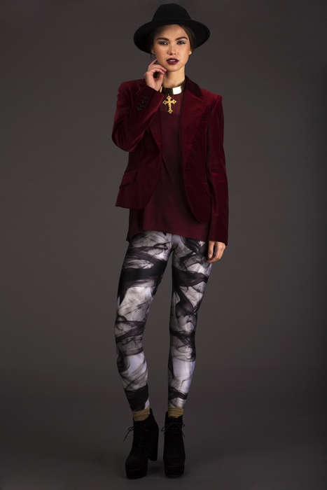 Lovelysally Silent Smoke Leggings
