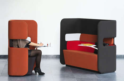 Privately Public Pod Seats - Podseat & Podsofa Provide Privacy and Comfort to the Waiting Burden