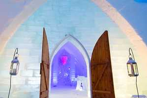 The Hotel De Glace is Made of Frozen Water Blocks