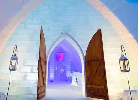 Gigantic Ice Inns - The Hotel De Glace is Made of Frozen Water Blocks