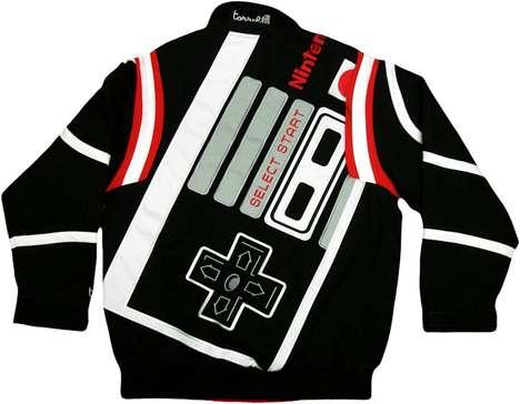 geeky gaming bomber jackets nintendo controller - evolveStar Search