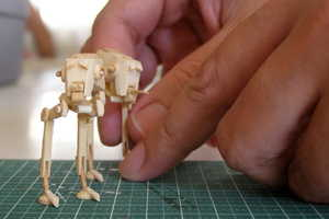 Recreate Star Wars With These Mini DIY Popsicle Stick AT-STs