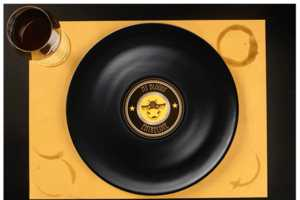 Long Plate Lets You Enjoy a Meal Off of a Classic Record
