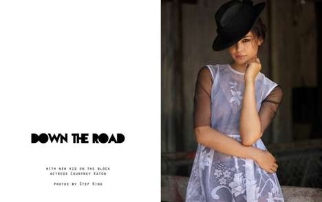 Small Town Editorials - The Fashion Gone Rogue 'Down the Road' Photoshoot Stars Courtney Eaton