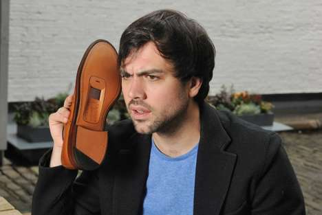 Upcycled Cellphone Shoes - Walkie Talkies by O2 Shows What Can be Done With Old Handsets