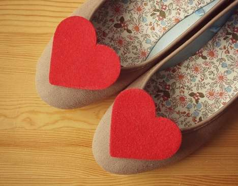 Heart-Shaped Shoe Clips
