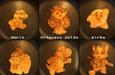 Pancake's Dad's Nintendo Pancake Art is Intricate and Mouthwa