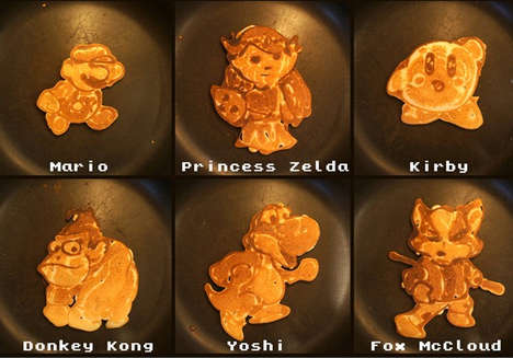 Nerdilicious Pancake Art - Pancake's Dad's Nintendo Pancake Art is Intricate and Mouthwa