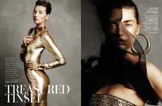 Glamorously Bronzed Editorials