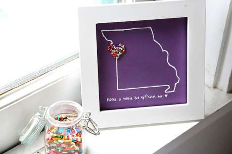 Sprinkle-Accented Maps - This DIY Project Lets You Accentuate Customized Pictures with Sprinkles