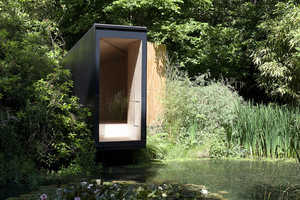This Forest Pond House Accommodates Meditative Family Getaways