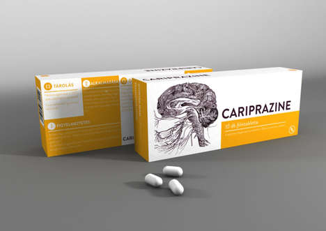 Illustrated Pill Packaging - Richter Gedeon Branding Incorporates Images Where They
