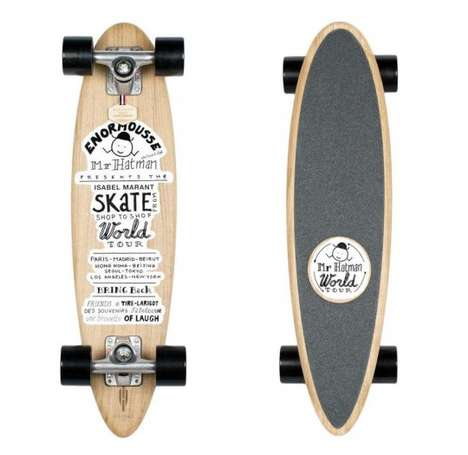 Chic Illustrated Longboards - The Isabel Marant x Heritage Paris Skateboards are Gnarly