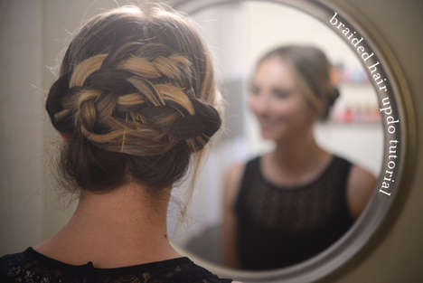 Cinnamon Bun Updo Guides - The Braided Hair Updo Tutorial Provides a Look at a High Do