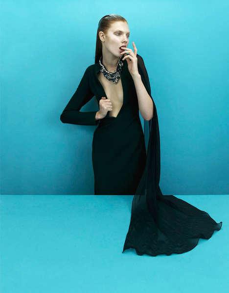 Vibrantly Minimalist Editorials - The Used Magazine 'Paper' Photoshoot Stars Model Anastasia Ivanova (TrendHunter.com)