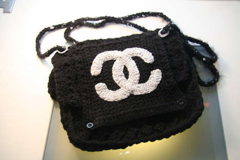 Crocheted Imposter Purses (UPDATE) - Counterfeit Crochet Project Features Hand-Made Couture Clutches
