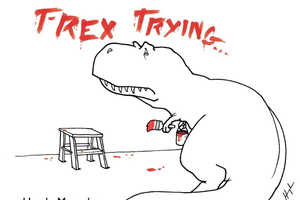 The 'T-Rex Trying' Book Will Make You Appreciate Your Arms