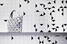 Fragmented Fashion Facades - The Issey Miyake Bao Bao Store Boasts Intergalactic Shop Merchandising