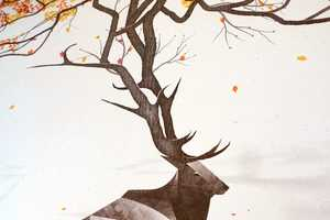 The DKNG Studios Elk Images Feature Animal Screen Prints