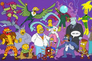 Spider-Man Meets Simpsons in Terry Ververgaert's Cartoon Mashup