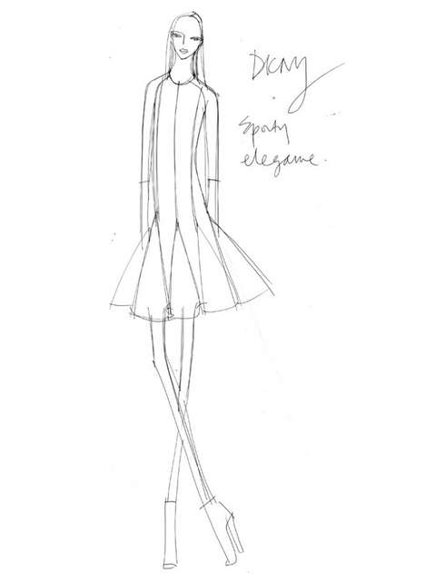 Fashionable Social Media Sketches - The DKNY #SocialChats Images Will Be Broadcast Online