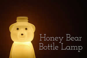 This DIY Lamp is Made From an Adorable Honey Bear Bottle