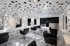 Perforated Beauty Parlors - The Ajax Beauty Salon by Yasunari Tsukada Design is Futuristic