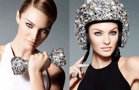 Luxuriated Sporting Gear - Swarovski S/S 2013 Campaign Features Crystallized Sport Accessories