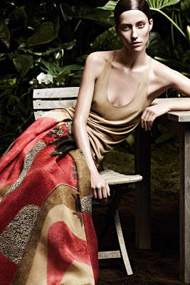 Fabulous Frond Advertisements - The Akris Spring/Summer 2013 Campaign is Shot in the Foliage