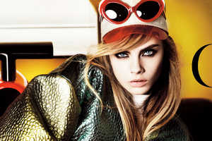 Cara Delevigne Graces the Cover of Vogue UK March 2013