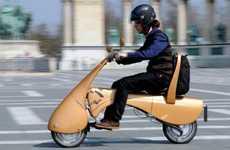 Futuristic Folding E-Bikes