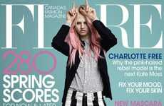 Charlotte Free Graces the Cover of the Flare March 2013 Issue
