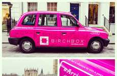 Mini Makeover Taxi Rides - The Birchbox UK London Taxi Cabs Gives Free Rides and Beauty Touch-Ups
