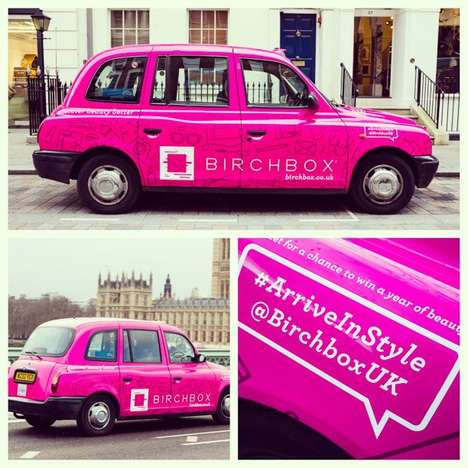 Birchbox UK London taxi cabs