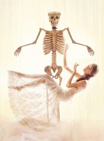 Romantic Corpse Bride Captures - The Gladys Ng A Quiet Waltz Editorial is Delicately Morbid