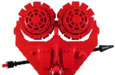 Building Block Love Rockets - The Valentine LEGO Heart Spaceship is Romantically Themed